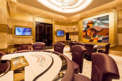 ASPEN casino chairs offer premium Italian design for high-end casino and slot gaming environments.