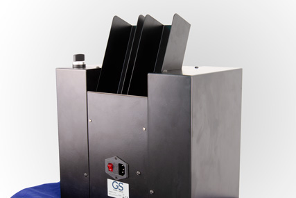 Casino card shredder for secure card destruction.