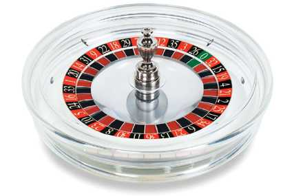Transparent american roulette wheel Cammegh Crystal, made from acryl