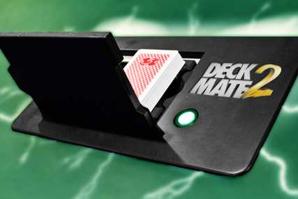 DeckMate 2 shuffler for poker, increase security & games per hour.