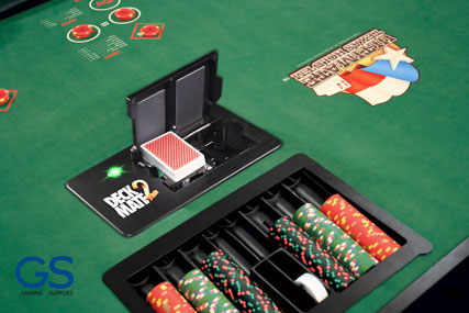 DECKMATE 2 is a is poker shuffle machine with shuffle time of just 22 seconds. Offering maximum security for players, by checking for missing, extra or unknown cards.