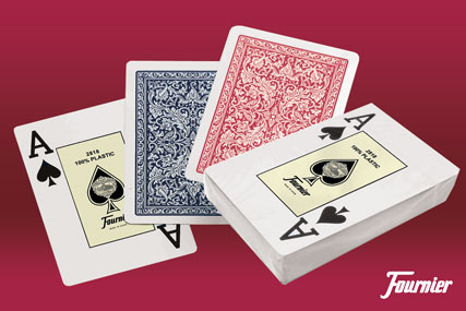 Quality 100% plastic playing cards from Fournier