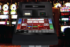 Fusion electronic casino gaming terminal for roulette, blackjack & baccarat.