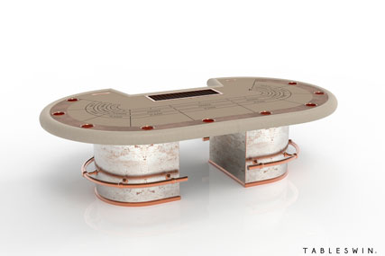 Casino baccarat gaming table from gambler collection