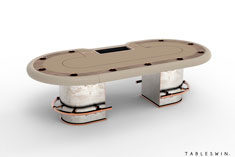 Poker table from GAMBLER collection offers authentic Italian design and quality of craftmanship.