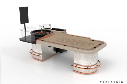 GAMBLER | Casino gaming table for american roulette