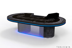 Casino baccarat gaming table from grunge collection