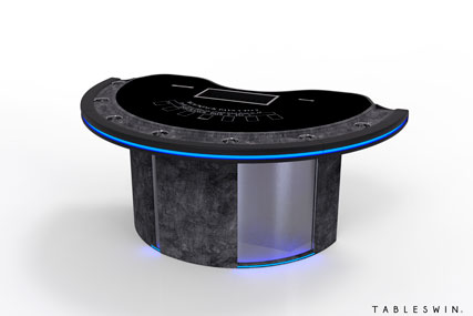 grunge casino card table for poker and blackjack
