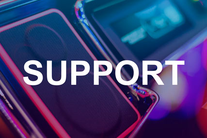Technical support, casino equipment repairs, spare parts for Shuffle Master, Bally, Scientific Games, Cammegh