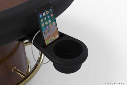 SWIPE | Poker table drinksholder & mobile charger