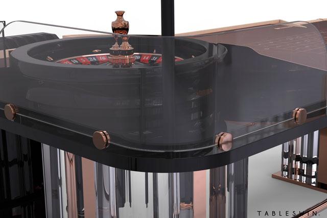 Venice american roulette table for casino
